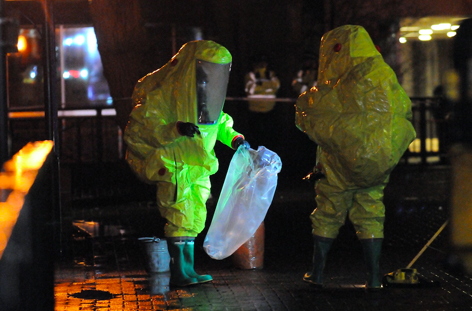 <em>Former Russian spy Sergei Skripal and his daughter were poisoned by nerve agent Novichok in Salisbury in March (Rex)</em>