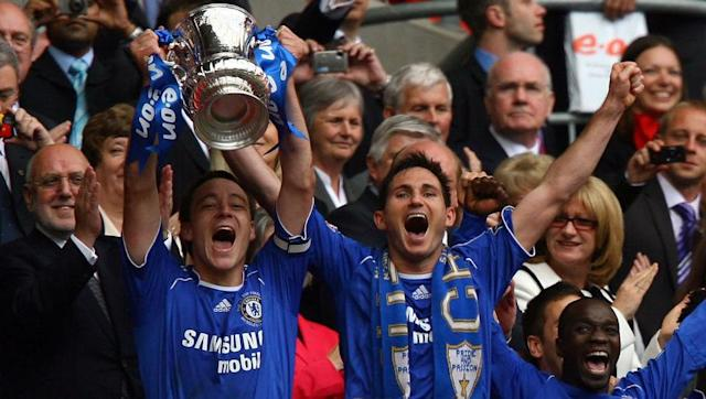 <p>Chelsea were in-fact the last club to win the world famous FA Cup trophy beneath the twin towers of the 'old' Wembley in 1997.</p> <br><p>Although a decade later under the arch of the newly redeveloped Wembley, Chelsea found themselves becoming the inaugural club to lift the trophy at the new home of English football.</p> <br><p>Didier Drogba won the final for the Blues thanks to his solitary goal in a 1-0 victory against Manchester United. Although it will be Terry which would go down as the first captain to walk the 107 step ascent towards the Royal Box to hold the famous cup aloft. </p>