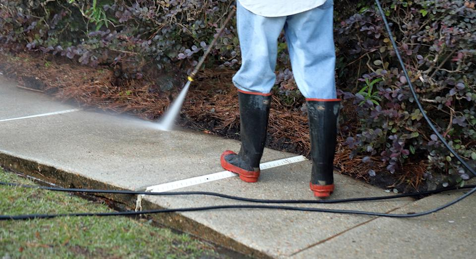 Time for a spring clean? Whether it's your car, patio or decking, a pressure washer is a must.  (Getty Images)
