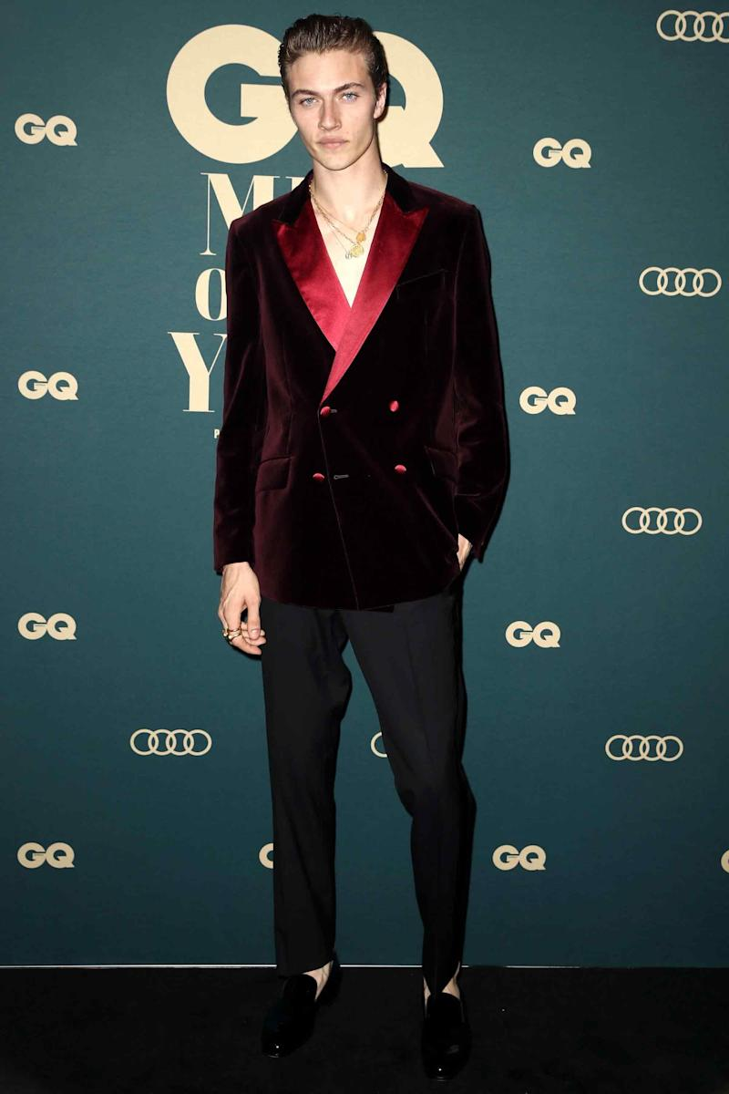 Lucky Blue Smith looking Bond-level sharp.