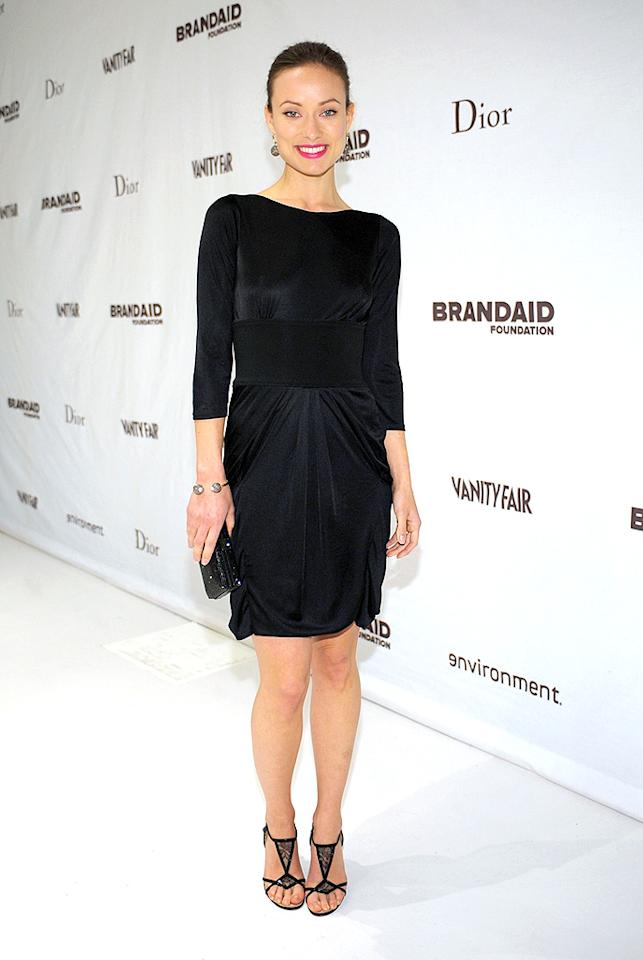 "Olivia Wilde is as cute as can be, but her basic black dress and updo were a tad boring. Stefanie Keenan/<a href=""http://www.wireimage.com"" target=""new"">WireImage.com</a> - February 19, 2009"