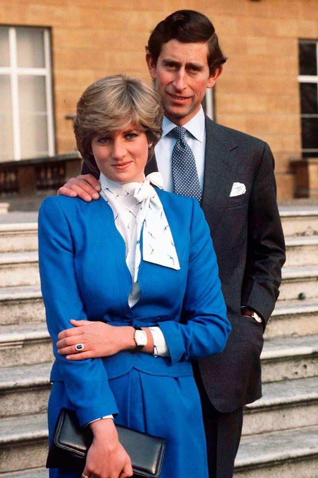 <p>In her engagement photos, a fresh-faced Lady Diana Spencer wore sapphire blue to match her engagement ring, and the photos were an instant hit.  </p>