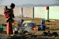 A civil war between the Myanmar military and the Arakan Army militant group has forced 200,000 from their homes