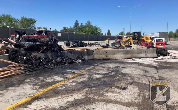 Tuesday morning's crash involved nine vehicles on Interstate 84 in Boise and affected both the eastbound and westbound lanes.