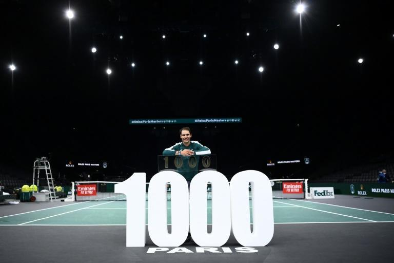 Another landmark: Rafael Nadal after recording his 1,000th career win on Wednesday