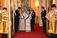 <p>Queen Elizabeth II, Prince Charles, and Camilla, Duchess of Cornwall were also in attendance. </p>
