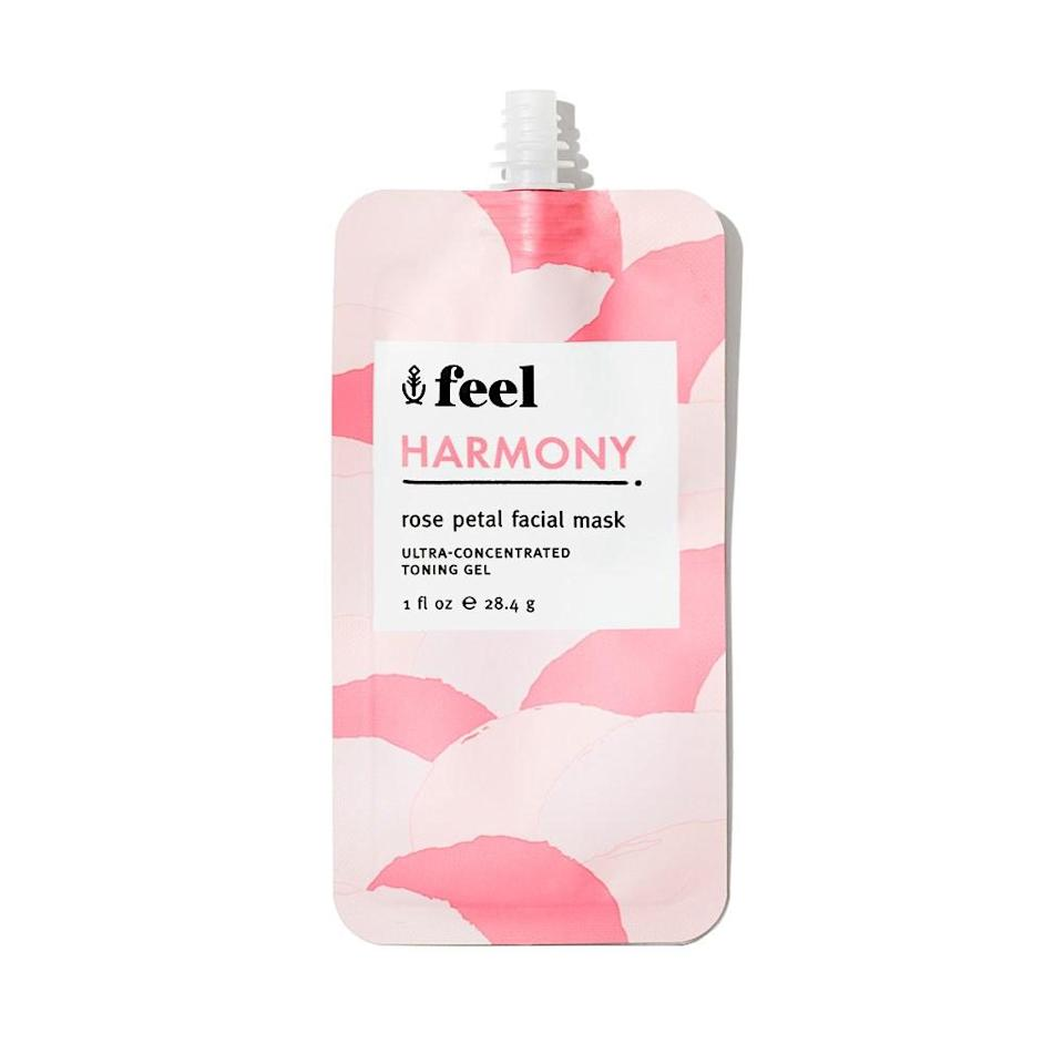 """<p>Everything about this mask is relaxing. It's loaded with skin-calming aloe and vitamin E, and it smells like roses because of the rose essential oils and actual petals in the formula. Plus, it's a gel, which has some very big benefits in the summer: Pop this mask in the fridge, and it'll be as cooling and refreshing as a giant glass of lemonade, only better, because lemonade can't make your skin look less blotchy. (A chilled gel helps minimize flushing and redness.) But even if you use it at room temp, this mask will leave your skin brighter over time (thanks to vitamin C) and noticeably smoother immediately (thanks to hydrating glycerin).</p> <p><strong>Value:</strong> <a rel=""""nofollow noopener"""" href=""""https://www.allure.com/review/feel-beauty-harmony-rose-petal-facial-mask?mbid=synd_yahoo_rss"""" target=""""_blank"""" data-ylk=""""slk:Feel Harmony Rose Petal Facial Mask"""" class=""""link rapid-noclick-resp"""">Feel Harmony Rose Petal Facial Mask</a>, $55</p> <p><strong>—<a rel=""""nofollow noopener"""" href=""""http://beautybox.allure.com/?source=EDT_ALB_JULY_2018_GALLERY_UNBOXING"""" target=""""_blank"""" data-ylk=""""slk:Subscribe Now"""" class=""""link rapid-noclick-resp"""">Subscribe Now</a>—</strong></p>"""