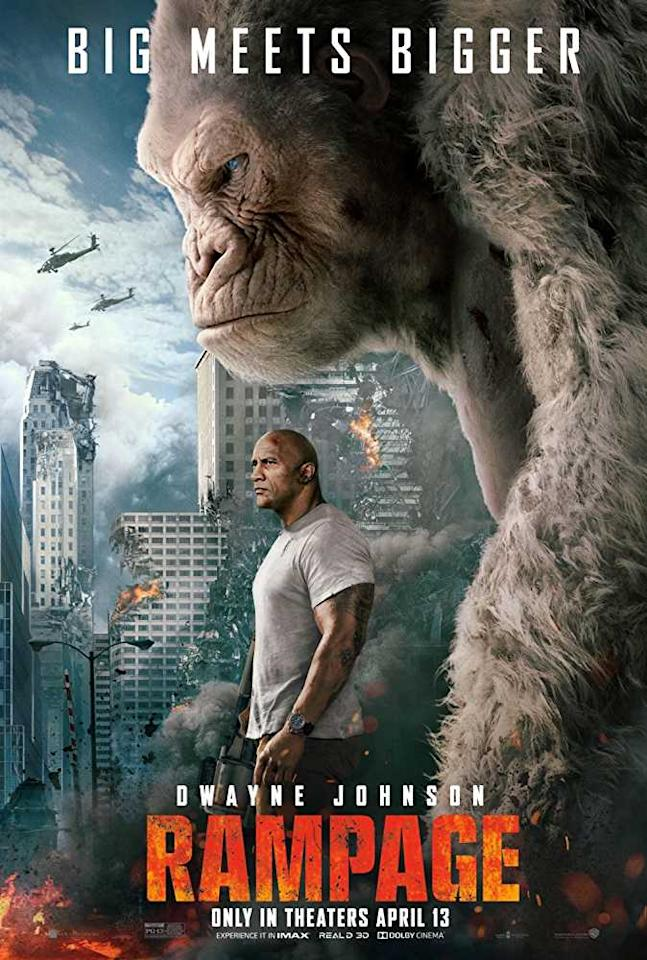 <p>Primatologist Davis Okoye, a man who keeps people at a distance, shares an unshakable bond with George, the extraordinarily intelligent, silverback gorilla who has been in his care since birth. But a rogue genetic experiment gone awry mutates this gentle ape into a raging creature of enormous size. </p>