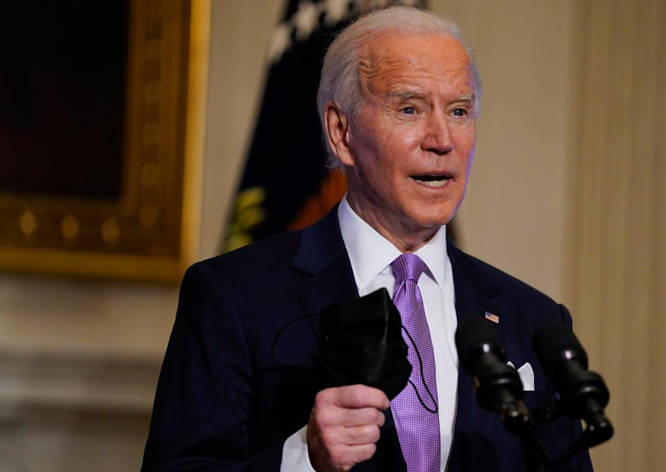 <p>Joe Biden announces the federal government has purchased an additional 200 million vaccines to arrive by summer</p> (AP)