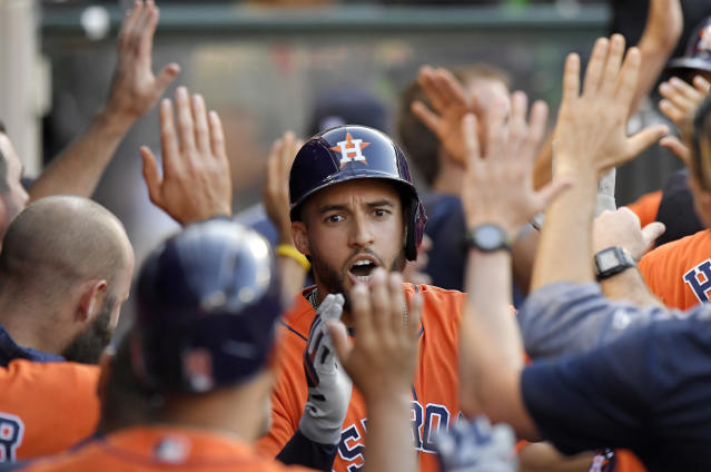 The Houston Astros are still the favorites to win the American League, according to a recent informal poll of scouts and executives. (AP)