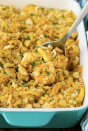 """<p>The buttery crackers crushed on top of this cheesy casserole give each bite a satisfactory crunch.</p><p><strong>Get the recipe at <a href=""""https://www.dinneratthezoo.com/squash-casserole/"""" rel=""""nofollow noopener"""" target=""""_blank"""" data-ylk=""""slk:Dinner at the Zoo"""" class=""""link rapid-noclick-resp"""">Dinner at the Zoo</a>.</strong> </p>"""