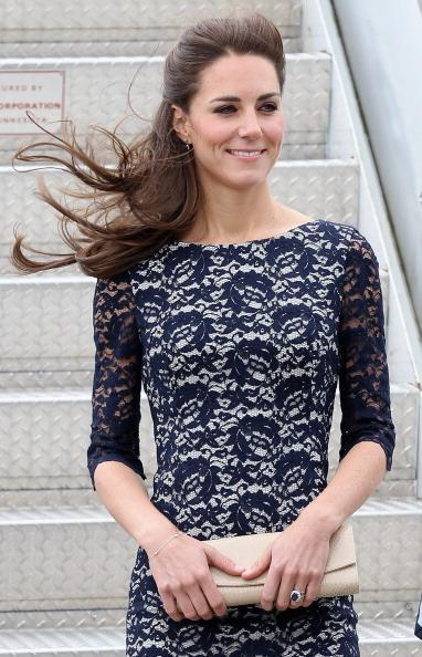 Catherine, Duchess of Cambridge arrives at Macdonald-Cartier International Airport on June 30, 2011 in Ottawa, Canada. The newly married Royal Couple have arrived in Canada today for their first joint overseas tour. Ottawa is the start of a 12-day visit to North America which will take in some of the more remote areas of the country such as Prince Edward Island, Yellowknife and Calgary. The Royal couple will also join millions of Canadians to take part in tomorrow's Canada Day celebrations which mark Canada's 144th Birthday. (Photo by Chris Jackson-Pool/Getty Images)