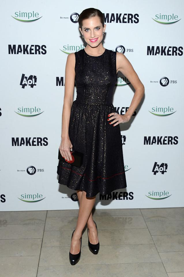 "Allison Williams arrives at ""MAKERS: Women Who Make America"" New York Premiere at Alice Tully Hall on February 6, 2013 in New York City."