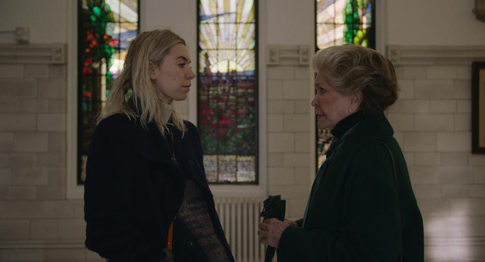 "Vanessa Kirby (left) stars as a woman dealing with a tragic loss and Ellen Burstyn is her domineering mother in ""Pieces of a Woman."""
