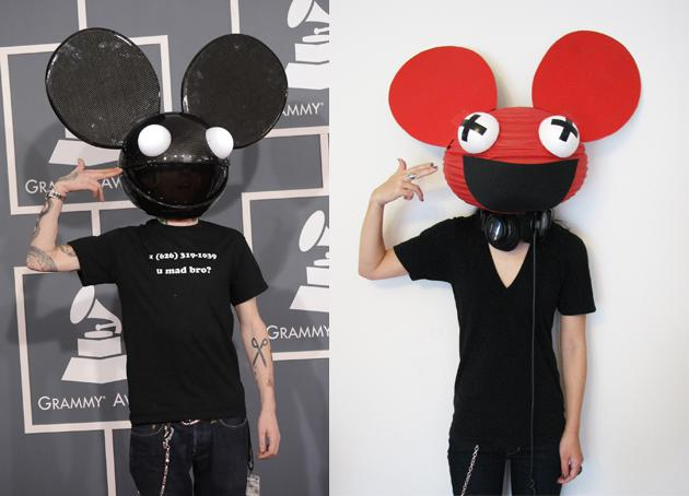 known for his giant grinning mouse helmet the headpiece has gone through a number of redesigns adding lights screens and multiple colors