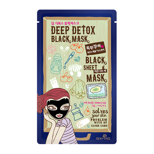 Using charcoal powder and volcanic ash, this sheet mask has serious detoxifying power. The cloth mask is packed with moisture, leaving your skin feeling hydrated (and rejuvenated) after just 20 minutes of wear. Dewy Tree Deep Detox Black Mask ($3)