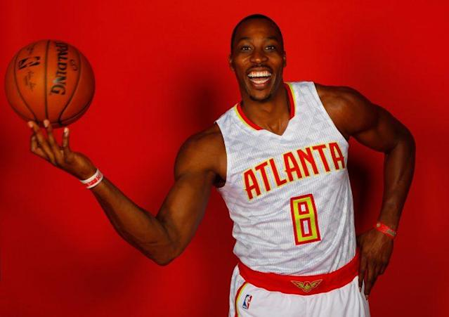 Dwight Howard is so excited! (Kevin C. Cox/ Getty)