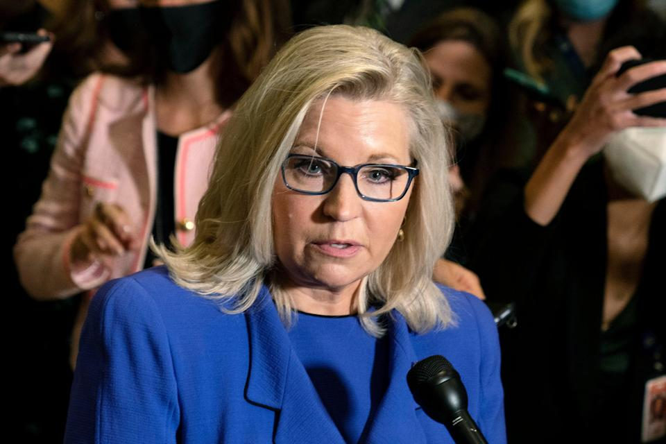 <p>Ms Cheney was removed from her post due to her opposition over Donald Trump's election allegations </p> (AP)