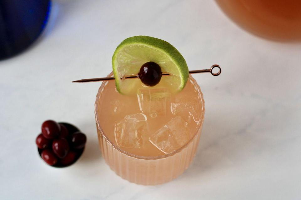 "<p>""Nothing says winter like cranberry cocktails,"" says Wilson. ""I combined tart cranberry with spicy, sweet ginger beer for a punch that's easy to double (or triple).""</p><p><strong>Camille's CranGinger Punch Recipe</strong></p><p><strong>Ingredients:</strong></p><p>2 ounces vodka</p><p>2 ounces cranberry juice</p><p>2 ounces pineapple juice</p><p>1 ounce lime juice</p><p>1/2 ounce simple syrup</p><p>ginger beer</p><p>lime wheel (for garnish)</p><p><strong>Directions:</strong></p><p>Combine all ingredients except ginger beer in a cocktail shaker with ice. Shake until chilled. Pour into a glass. Top with ginger beer and garnish with a lime wheel.<br></p>"