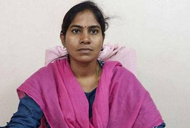 A file image of tehsildar Vijaya Reddy, who was set ablaze in her office in Telangana's Ranga Reddy district on November 4.  (Photo: Image sourced by the author from police.)