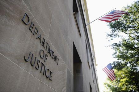 FILE PHOTO: The exterior of the U.S. Department of Justice headquarters building in Washington, U.S.,  July 14, 2009.    REUTERS/Jonathan Ernst/File Photo