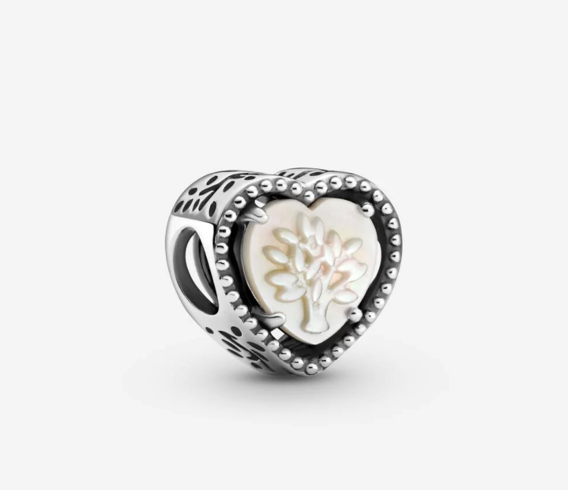 Openwork Heart & Family Tree Charm. Image via Pandora.