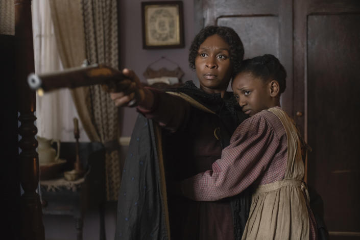 Cynthia Erivo stars as Harriet Tubman and Aria Brooks as Anger in HARRIET, a Focus Features release. | Glen Wilson—Focus Features