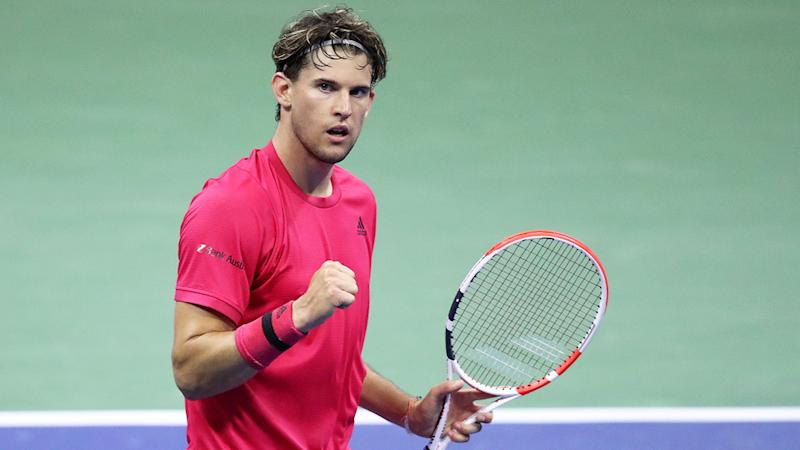 Seen here, second seed Dominic Thiem in action at the US Open.