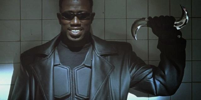 Wesley Snipes in 1998's 'Blade,' a key film in launching the 21st century superhero movie wave (credit: New Line Cinema)