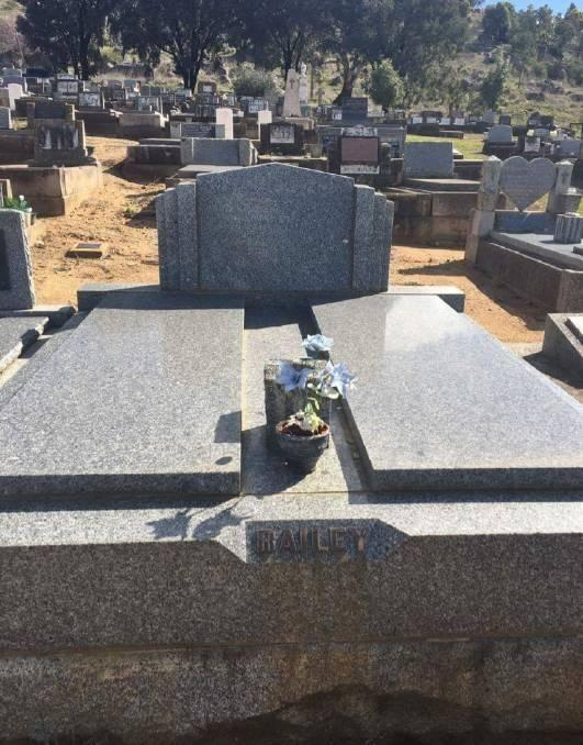 The resting place of 14-year-old Frederick Bailey and his mother. Source: Supplied