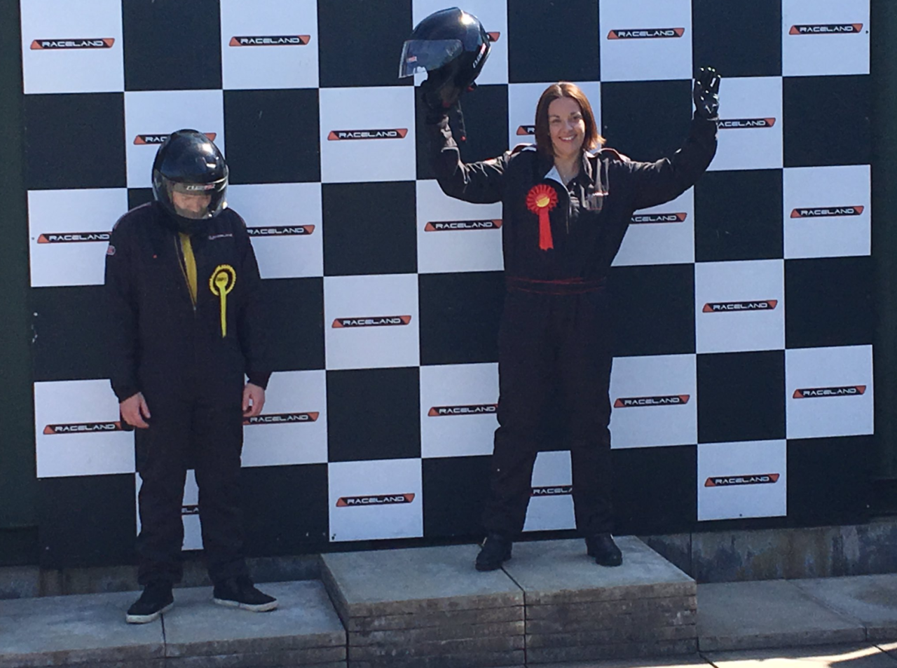 <p>In a flimsy attempt to emphasise the fact that her party is in 'pole position' in East Lothian, leader of the Scottish Labour Party persuaded a poor lacky to wear SNP colours and let her win at go-karting. </p>