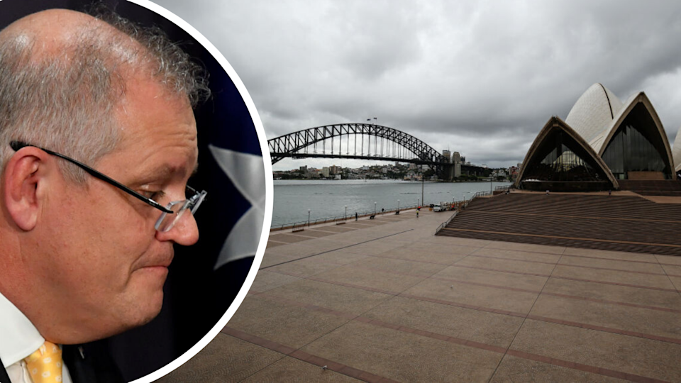 Sydney's most popular tourist spot is a ghost town. (Source: Getty)