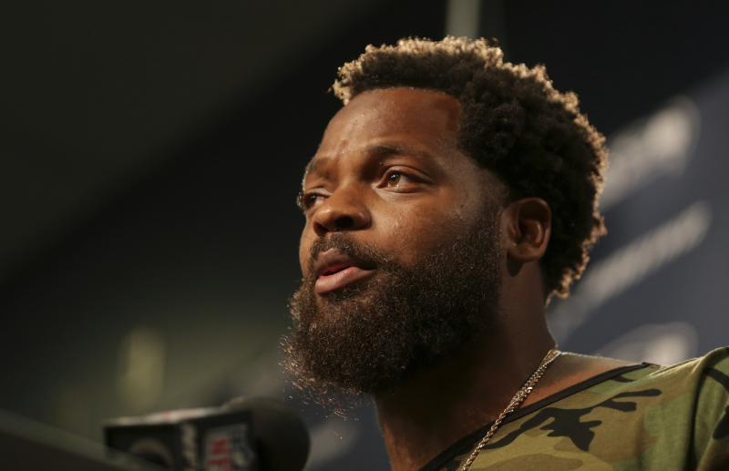 Seahawks lineman Michael Bennett took to social media and a news conference to discuss an incident that happened with him and the Las Vegas Police Department last month. (AP)