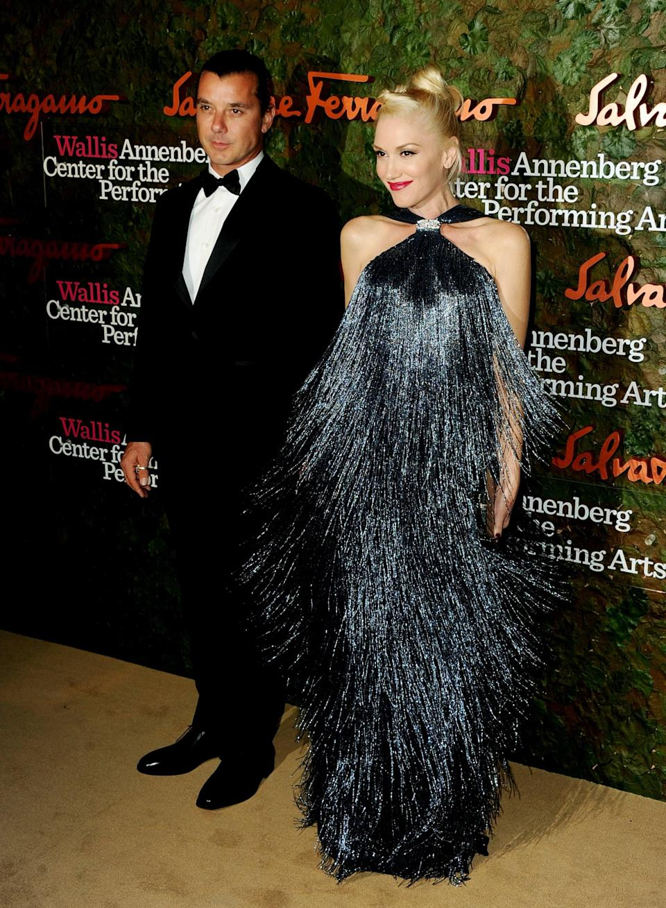 """<p>She wore Salvatore Ferragamo's swingy fringe from the resort 2012 collection for the Performing Arts gala in 2013, which she attended with then-husband <a class=""""link rapid-noclick-resp"""" href=""""https://www.popsugar.co.uk/Gavin-Rossdale"""" rel=""""nofollow noopener"""" target=""""_blank"""" data-ylk=""""slk:Gavin Rossdale"""">Gavin Rossdale</a>.</p>"""