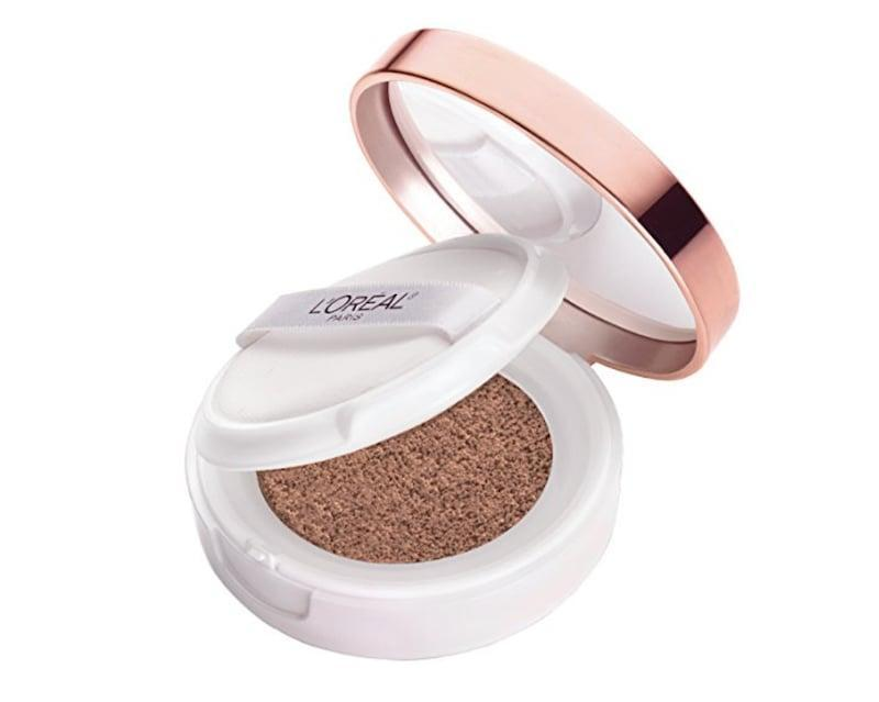 <p>The sponge-like compact of <span>L'Oréal True Match Lumi Cushion Foundation</span> ($14) is soaked with superfine pigments that leave behind a subtle - yet buildable - finish.</p>