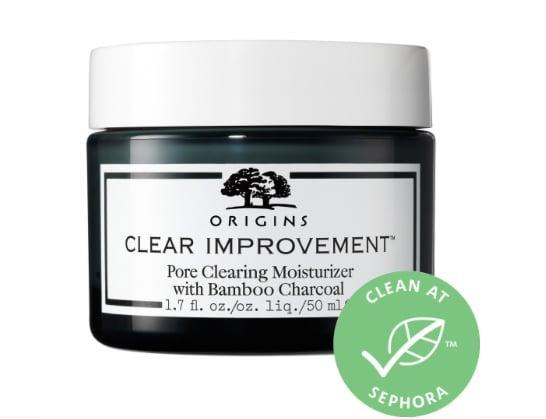 <p>It's an oil-free moisturizer and an acne treatment. The <span>Origins Clear Improvement Pore Clearing Moisturizer With Salicylic Acid</span> ($38) can keep skin hydrated without any added ingredients likely to cause more oil buildup or breakouts. Its star ingredient is bamboo charcoal, a very fine powder that's created after bamboo stalks are burned at high temperatures, which also can absorb 100 times its weight in impurities.</p>