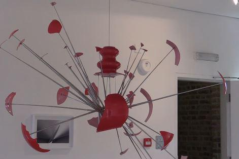 One of the sculptures in the exhibition (London Live)