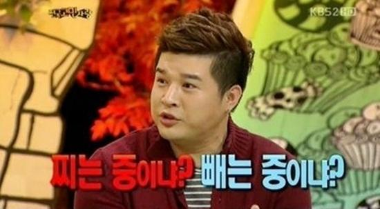 Shin Dong shows his worry about gaining weight back