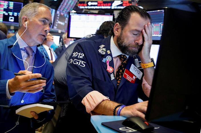 Wall Street traders are among those who are stressed as the economy suffers.