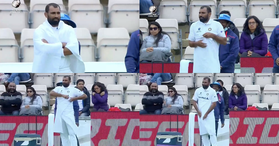 Watch: Mohammed Shami Wraps Himself In Towel And Warms Him Up At The Boundary Line
