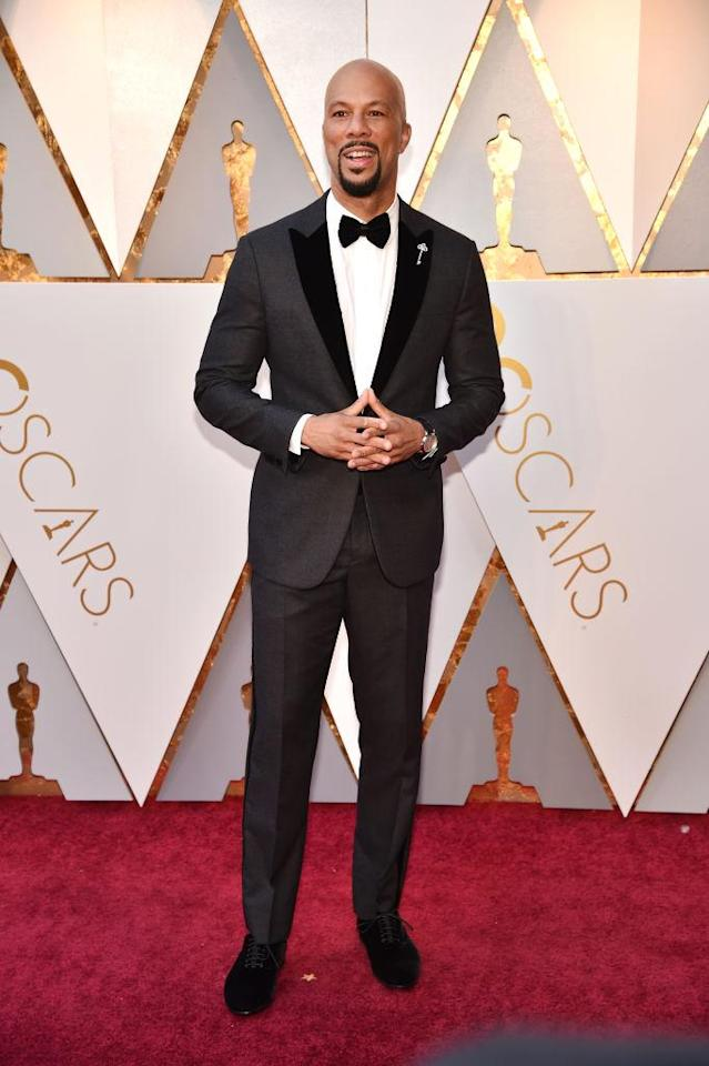 <p>Common attends the 90th Academy Awards in Hollywood, Calif., March 4, 2018. (Photo: Getty Images) </p>