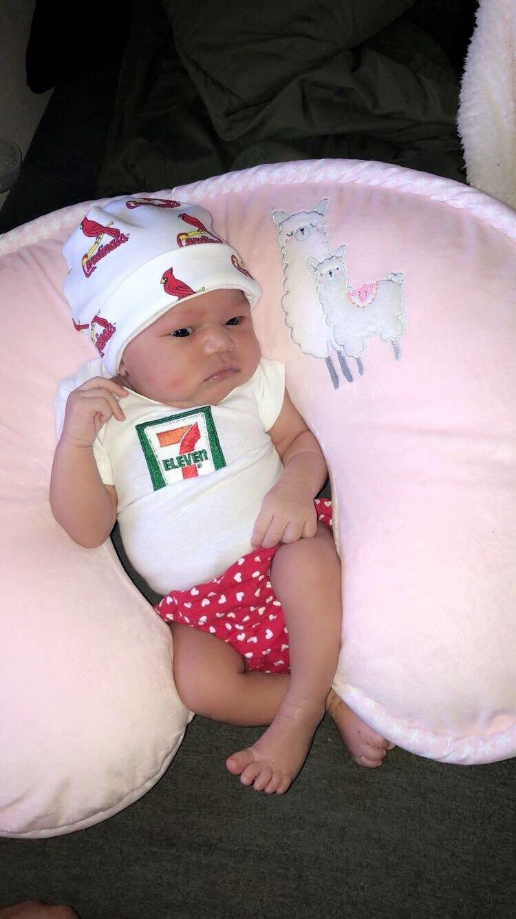 Baby born on 7-Eleven Day at 7:11 p.m., weighs 7 lbs., 11 oz., gets 7-Eleven college fund