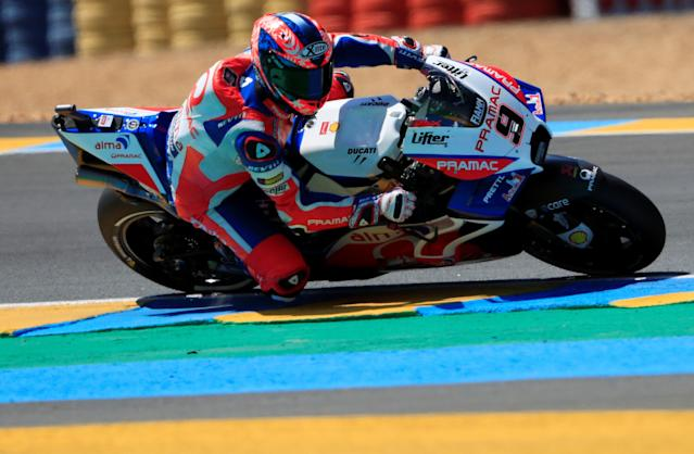 Motorcycling - MotoGP - French Grand Prix - Bugatti Circuit, Le Mans, France - May 19, 2018 Alma Pramac Racing's Danilo Petrucci during qualifying REUTERS/Gonzalo Fuentes