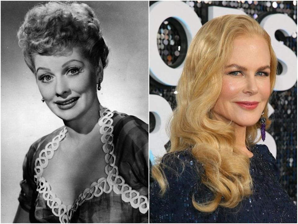 Kidman will portray Lucille Ball (left) in 'Being the Ricardos' (Getty)
