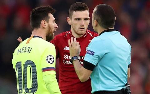 Andy Robertson gets inside Lionel Messi's head - Credit: action images