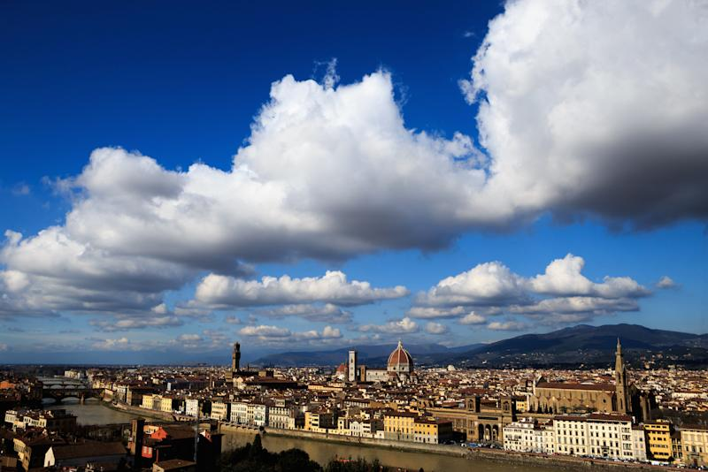 A British man is in hospital after falling from a hotel balcony in Florence