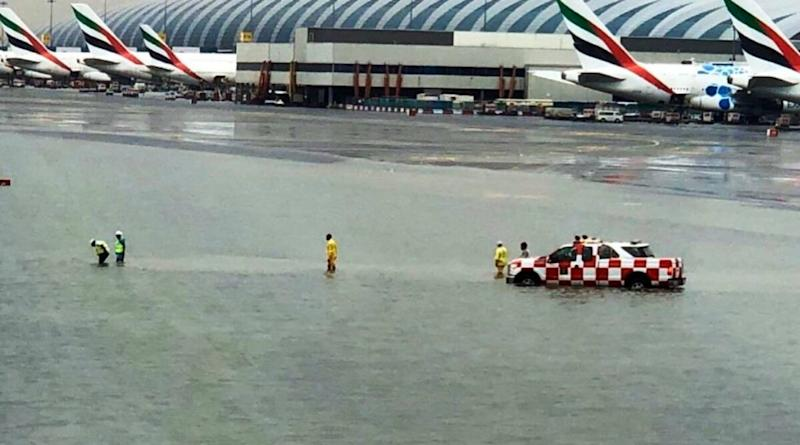 UAE Lashed by Heavy Rains and Hails Due to Cloud Seeding, View Pics and Videos of Waterlogged Streets