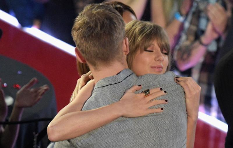 Calvin and Taylor were in a very publicised romance until they broke up last year. Source: Getty