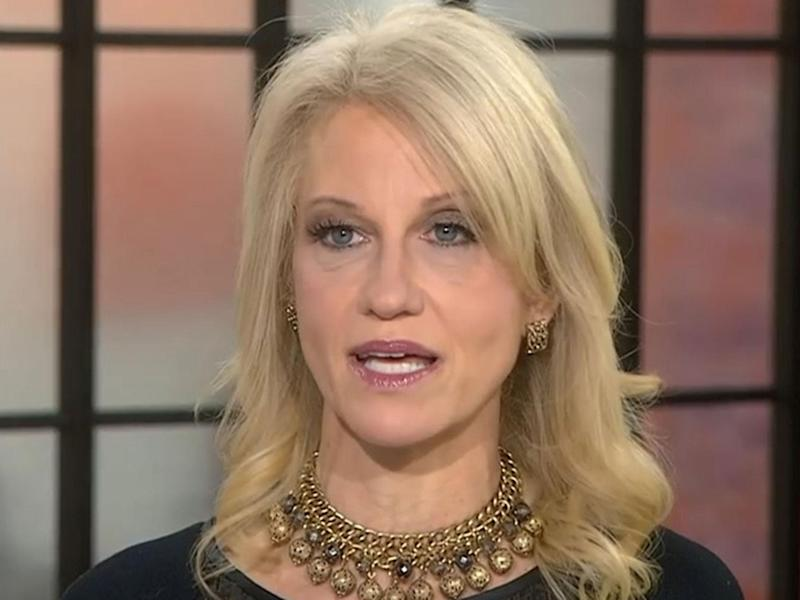 Ms Conway said there was a lot of fakery going on: NBC News
