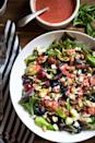 """<p>With bitter greens, salty feta cheese, and a fruity dressing, this salad hits all the right flavor notes. Starchy Brussels sprouts and protein-packed almonds make it hearty enough for dinner.</p><p><strong>Get the recipe from <a href=""""https://www.thepioneerwoman.com/food-cooking/recipes/a94211/brussels-sprout-and-kale-salad-with-strawberry-basil-vinaigrette/"""" rel=""""nofollow noopener"""" target=""""_blank"""" data-ylk=""""slk:Natalie Perry"""" class=""""link rapid-noclick-resp"""">Natalie Perry</a>.</strong></p>"""